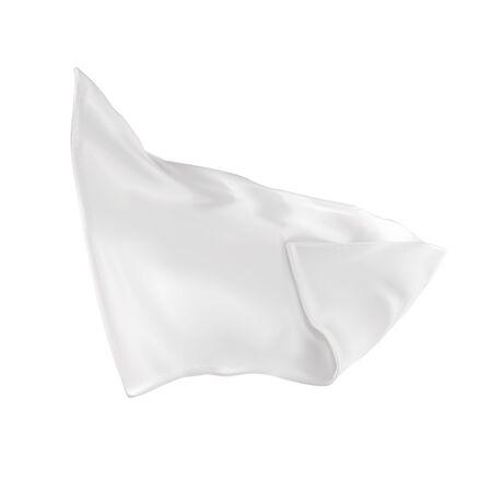 Illustration pour Vector illustration of a very white napkin - image libre de droit