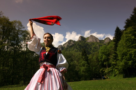 a Folklore Festival in the Town of Cerveny Klastor in the north of Slovakia on the Border to Poland in Eastern Europe
