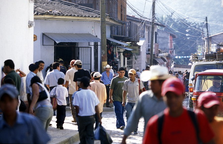 the old town of the city Copan in Honduras in Central America,