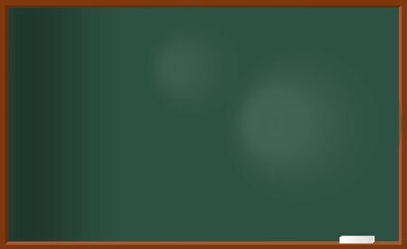 Illustration pour Green school chalkboard and white chalk. - image libre de droit