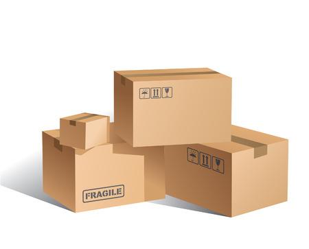 Illustration pour  Boxes - image libre de droit