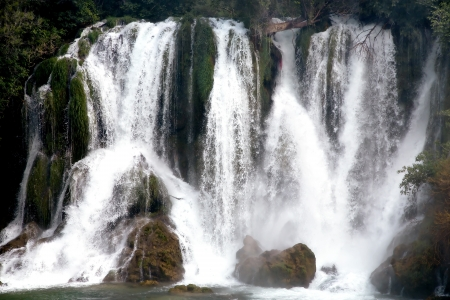Famous Kravica waterfalls in