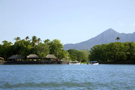 Lake Nicaragua (or Lake Cocibolka)and active volcano Concepcion
