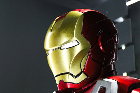 Las Vegas, USA-OCT 09, 2017: Iron man Type 7 model at the Avengers experience in Treasure Island Hotel and Casino on Las Vegas Strip.