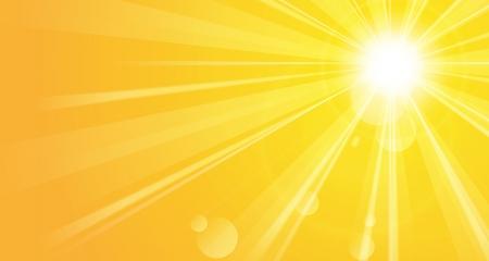 Bright background with sunshine