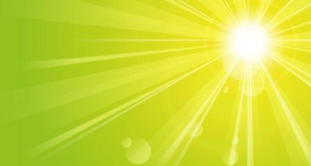 Shiny green background with sunshine