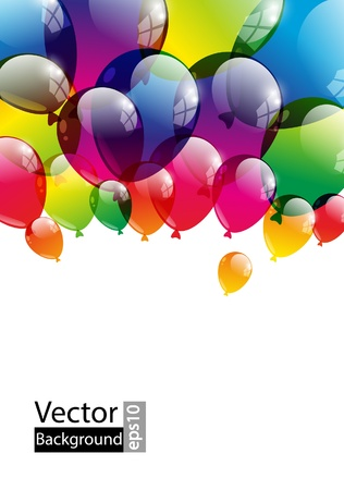 Balloon background with place for text