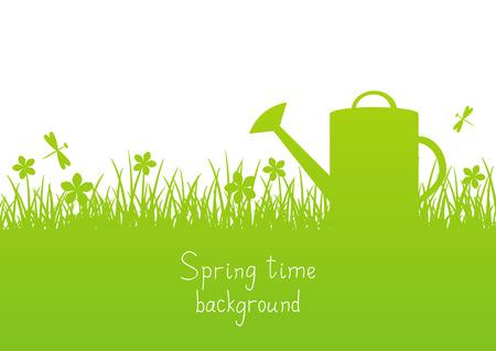 Illustration pour Spring garden background with place for Your text - image libre de droit