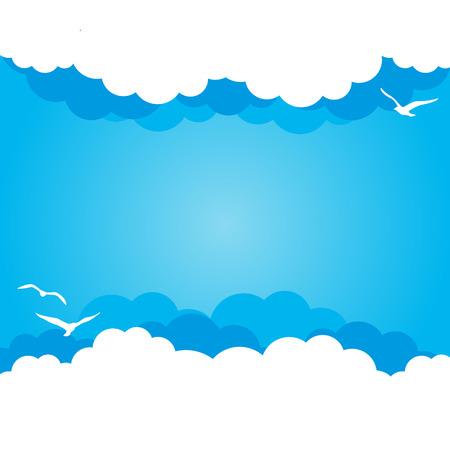 Illustration pour Cloud background with place for Your text - image libre de droit