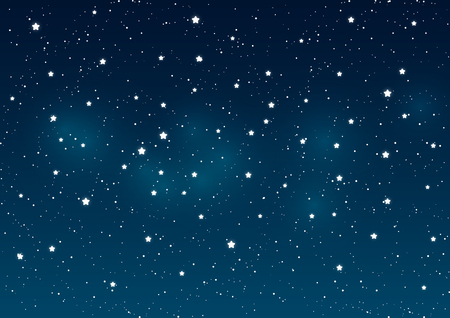 Illustration pour Shiny stars on night sky background - image libre de droit