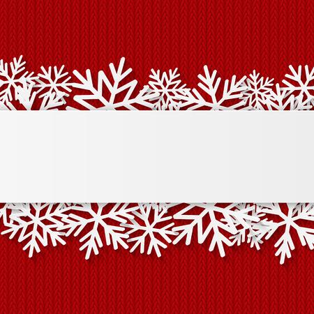 Illustration pour Christmas background with paper snowflakes - image libre de droit