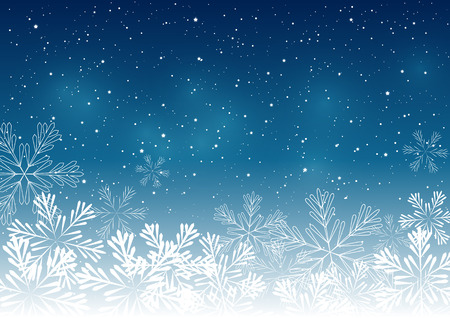 Illustration for Christmas snowflakes background for Your design - Royalty Free Image