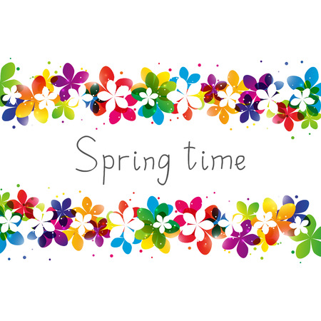 Illustration for Spring floral border with place for Your text - Royalty Free Image
