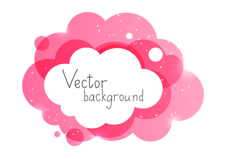 Illustration pour Pink cloud element - image libre de droit