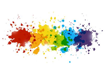 Illustration pour Rainbow paint splashes for Your design - image libre de droit