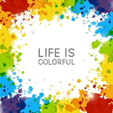 Illustration pour Abstract background with rainbow paint splashes - image libre de droit