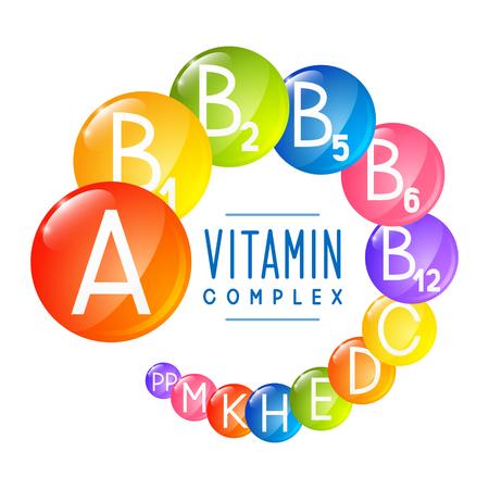Illustration pour Main vitamin icons for Your design - image libre de droit