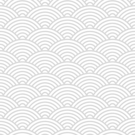 Illustration for Seamless pattern with Japanese style gray and white circles ornate for your design - Royalty Free Image