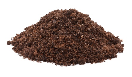 Photo pour Pile of soil for plant isolated on white background - image libre de droit