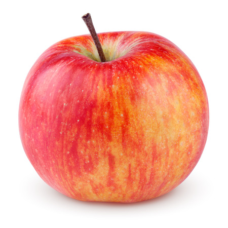 Photo for Red yellow apple isolated on white with clipping path - Royalty Free Image
