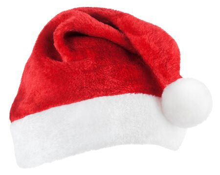 Photo pour Santa Claus or christmas red hat isolated on white background - image libre de droit
