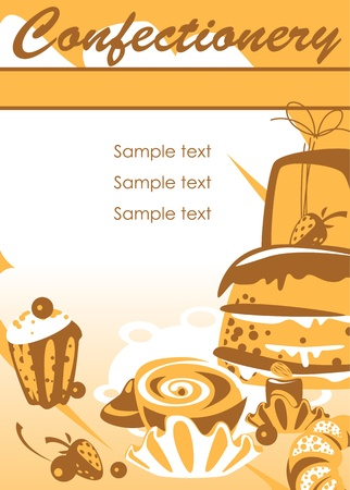 confectionery. place for your text. similar to the portfolio