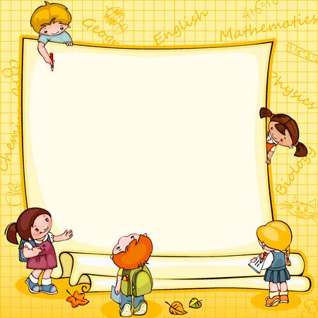 Foto de school children's  banner. Place for text - Imagen libre de derechos