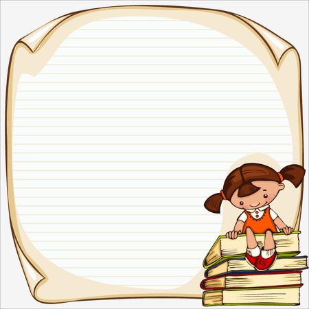 Foto de school children's  vector banner. Place for text - Imagen libre de derechos