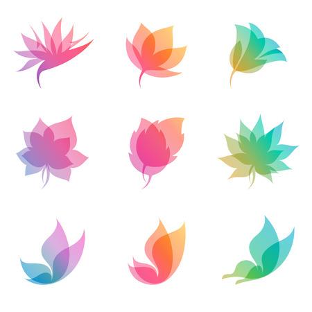 Pastel nature. Elements for design. Vector illustration.