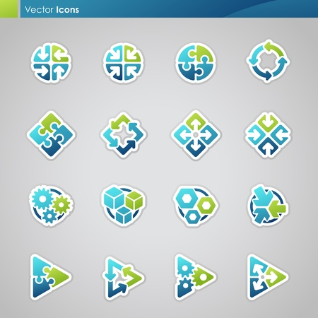 Abstract geometrical icons. Vector logo template set.のイラスト素材