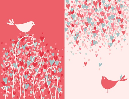 Two pretty love birds.