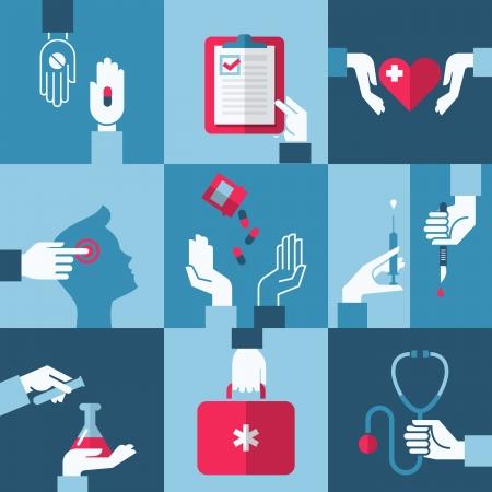 Medical and health care design elements - Vector illustration