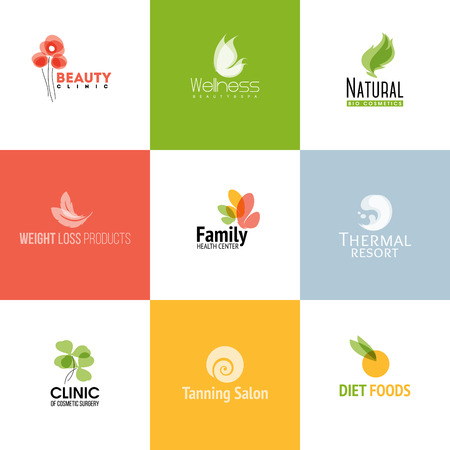 Set of modern beauty and nature icon  templates and icons