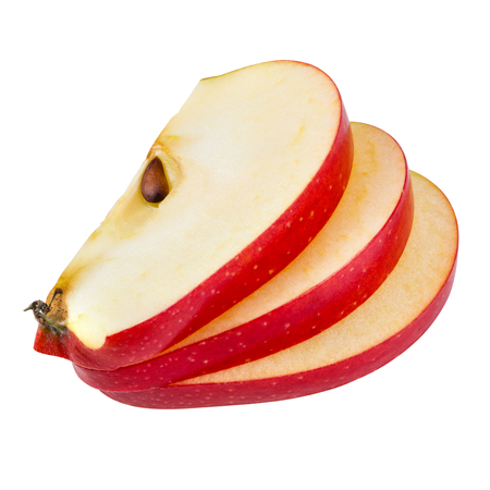 Photo for Apple slices isolated on white. With clipping path - Royalty Free Image