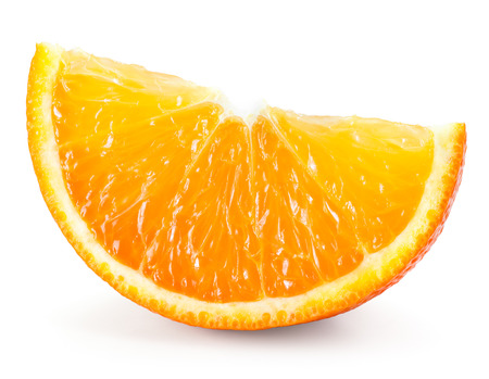 Photo pour Orange fruit. Slice isolated on white - image libre de droit