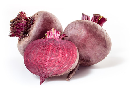 Photo for Fresh beetroot isolated on white - Royalty Free Image