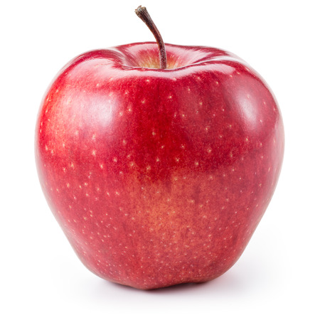 Photo for Fresh red apple isolated on white. With clipping path - Royalty Free Image