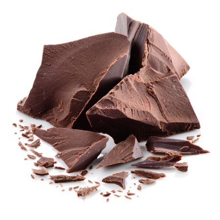 Photo pour Chocolate pieces - image libre de droit