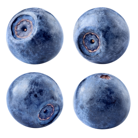 Photo for Blueberry isolated. Blueberries on white background. With clipping path. Collection. - Royalty Free Image