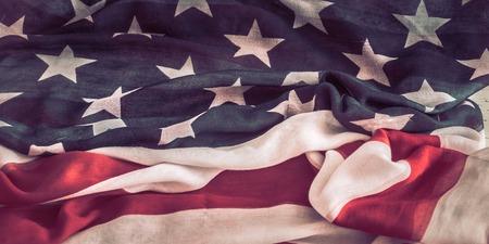 Photo pour National Patriotic symbols. The old American flag.The concept of patriotism and celebration - image libre de droit