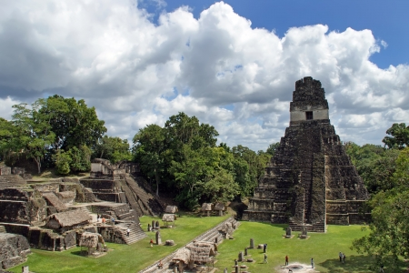 Temple of the Great Jaguar is one of the major structures at Tikal, Guatemala