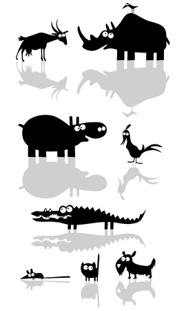 Funny Vector Animal Silhouettes