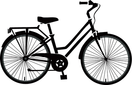 Illustration for Black Bicycle Vector  - Royalty Free Image