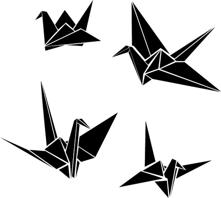 Illustration for Origami paper cranes  - Royalty Free Image