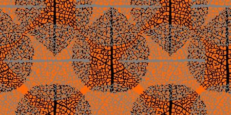 Illustration pour Leaves seamless pattern - image libre de droit