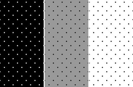 Illustration pour Set of seamless pattern with diamonds - image libre de droit