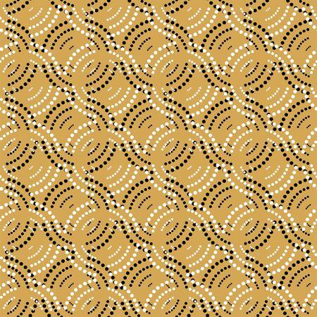 Illustration pour Seamless geometric pattern with dots - image libre de droit