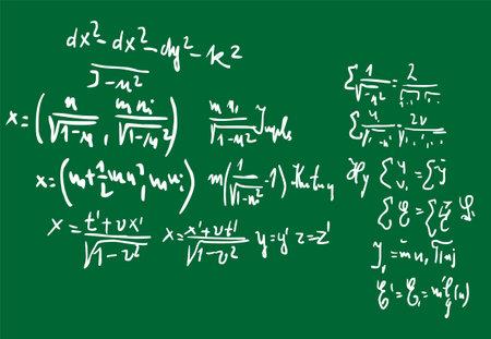 Photo pour Handwritten mathematical equations. Education background - image libre de droit