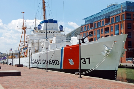 USCGC Taney Coast guard ship in Maritime museum in Baltimore Inner Harbor