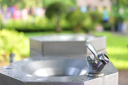 Photo for Water tap for drink in public park - Royalty Free Image